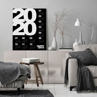 Kalendarz 2020 black plakat/tablica