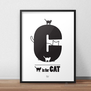 Plakat CAT ZOO LETTERS 30x40